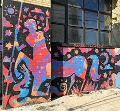 Mythology by MDOT (wiredforlego) Tags: graffiti mural streetart urbanart aerosolart publicart williamsburg brooklyn newyork nyc ny mdot