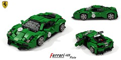 Ferrari 488 Pista (lego911) Tags: ferrari 488 pista 2018 2010s berlinetta coupe v8 turbo sportscar supercar italy italian auto car moc model miniland lego lego911 ldd render cad povray afol