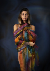 Iris (brianjdavies) Tags: studioportrait beauty colours rainbow glamour emotion goddess nikon d850 studiolighting