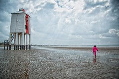 Burnham-on-Sea Low Lighthouse (ebalch) Tags: burnham burnhamonsea low lighthouse lowlighthouse gradeii listed building sand beach josephnelson bridgwaterbay bristolchannel somerset england child clouds canon 5d ebalch wooden pile