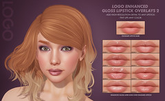 LOGO Enhanced Gloss Pack 2 (getLOGOed) Tags: logo ebento secondlife makeup highresolution gloss lipstick bento