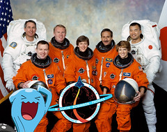 sts114-s-002_Wobbuffet (AlphaHundemon2001) Tags: nasa pokémon discovery eileen collins soichi noguchi return to flight mission 2006 august space shuttle astronaut moon surface pikachu mew houndoom
