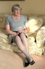 Helengrydrssit (fionaxxcd) Tags: crossdresser crossdressing transvestite tranny trannie m2f mft gurlboigirlboy stilettos pearls bust legs lipstick greiryha