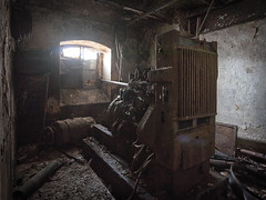 generator room (jkatanowski) Tags: urbex urban exploration indoor decay destroyed derelict destruction old engine generator window dark tripod rust ruined forgotten abandoned lost lostplace sony a7m2 1740mm