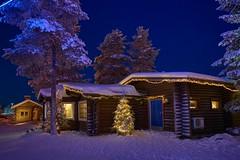 Nocturna en Santa Klaus Village (ZAPIGATA) Tags: landscape laponia lapland rovaniemi finland nieve night nightscape noche snow santaklaus papanoel paisaje zapigata