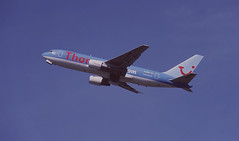 A 'Thomson' Twin (crusader752) Tags: thomson boeing 767200 gbrif london gatwick airliner
