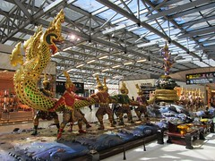 Suvarnabhumi Airport (Stewie1980) Tags: thailand bangkok samut prakan suvarnabhumi airport interior departures taxfree thai sculpture mythical snake กรุงเทพ ประเทศไทย