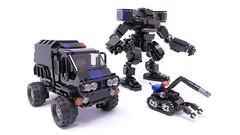 Futuristic SWAT Team (Mishima Productions) Tags: lego mech mechsuit legomoc legomech legomecha mishima mishimaproductions レゴ レゴブロック レゴロボ swat police