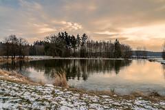 Am Teich  (2) (berndtolksdorf1) Tags: deutschland thüringen jahreszeit winter teich wasser schnee lichtstimmung outdoor bäume
