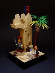 #004 - The Gate of Tarqa (MarcelV.) Tags: lego castle vignette desert oriental palm tree