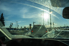 beams (Lou Musacchio) Tags: windshield streaks cars abstract reflections sunbeam clouds sky urbanphotography montreal quebec canada