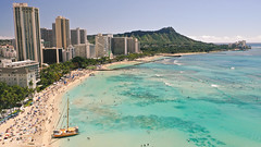 Waikiki Beach (Corey Rothwell) Tags: beach ocean people tan sun sunshine towels waikiki oahu hawaii travel paradise