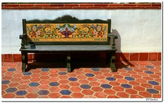 Tile Mural on Bench (our cultural archives) Tags: moorishspanishcolonialrevivalmalibupotteries adamsonhouse museum 1930 stilesclementsarchitect firstmalibubeachhouse andalusian farmhousepriceless collection malibu potteries tilesthe house was placed national register historic placesmalibu lagoon state beachceramic tiledecorative ceramic tileart potteryhandcraft traditiondecorative tilestuccotiled roofsdecorative floor tilewall tilessaracen moorish tile decorative tilesstate places california