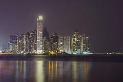 Panamá (karinavera) Tags: city longexposure night photography cityscape urban ilcea7m2 sunset panama architecture