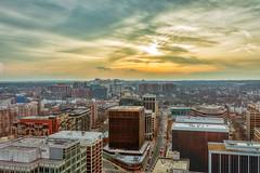 Sunset in Rosslyn, VA (cj13822) Tags: rosslyn rosslynva skyline cityscape tower dmv city familyfun weekend virginia dcist canon