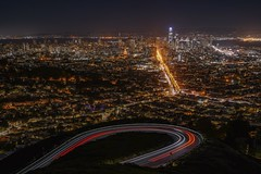 From Twin Peaks (karinavera) Tags: city longexposure night photography cityscape urban ilcea7m2 sunset sanfrancisco twinpeaks view