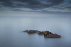 Obstruction (WibbleFishBanana) Tags: baltic ostsee sea water rocks stones cloud landscape leebigstopper schleswigholstein deutschland germany hohwacht plön