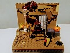 Chiroptophobia- Robin vs Man-Bat and Scarecrow (Drury Walker) Tags: scarecrow robin manbat arkham dc lego