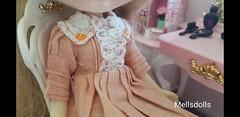 Handmade Blythe Doll Dress (mellsdolls) Tags: blythe dollhouse miniature blythedolldress dolldress handmadedolldress sallyrice rement