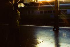 twilight zone (ro_ha_becker) Tags: rollei35germany cinestill800 meinfilmlab bahnsteig bangkok hualamphong street contrejour gegenlicht reflection spiegelung silhouette analogue film happyplanet asiafavorites