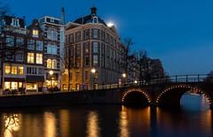 Amsterdam at night (Martijn van Sabben) Tags: iamnikon europe architecture moon cold blue bluehour water nightphotography night nationalgeographic avondfotografie city amsterdam ngc d500 nikonnl nikon nederland dutch