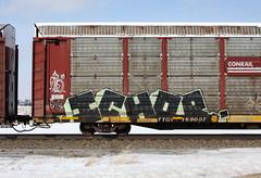 Ichor (quiet-silence) Tags: graffiti graff freight fr8 train railroad railcar art ichor ich ichabod yme circlet autorack conrail ttgx159087