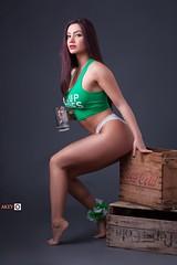 Ornella (Ray Akey - Photographer) Tags: woman female pretty irish saintpatty's green sexy beauty beautiful ornellaamora models people ontario canada ca