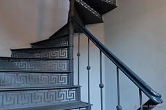 Eisern (Sockenhummel) Tags: treppe stairs wendeltreppe stufen stairway spiralstair escaliers staircase treppenhaus berlin fuji x30 stairwell architektur steps