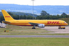 G-BIKB | Boeing 757-236(SF) | DHL (cv880m) Tags: ema eastmidlands castle donington uk gb aviation airliner airline aircraft airplane jetliner airport midlands gbikb boeing 757 752 757200 757236 sf dhl freighter freight aircargo cargo dhlair