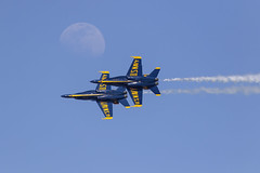 Blue Angels (Trent Bell) Tags: aircraft nafelcentro elcentro airshow california socal 2019 blueangels fa18 f18 hornet navy boeing moon