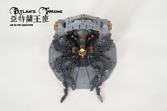 Atlan's-Throne09 (BrickElviN) Tags: lego moc dc aquaman castle ruin throne trident