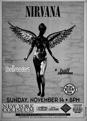 Nirvana 1993 concert ad for New York Coliseum show (80snyradioscrapbook) Tags: flier ad concert newyorkcity grunge punk inutero newyorkcoliseum 1993 nirvana