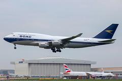 British Airways - Boeing 747-436 G-BYGC @ London Heathrow (Shaun Grist) Tags: gbygc ba britishairways speedbird boeing 747 747436 boac retro shaungrist lhr egll london londonheathrow heathrow airport aircraft aviation aeroplanes airline avgeek landing 27l