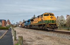 Spring Colors (Wheelnrail) Tags: emd sd70ace ns norfolk southern 376 locomotive railroad rail road rails springfield ohio oh quality urban freight train trains spring