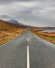 The road to the Storr... (Lee Harris Photography) Tags: road roadtrip scotland skye isleofskye storr landscape rugged scenery outdoor beauty loch mountain mountains