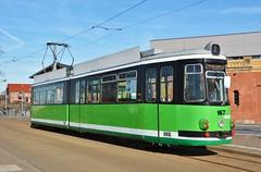 Halberstadt, Bahnhofstraße 25.02.2019 (The STB) Tags: halberstadt germany deutschland tram tramway strassenbahn strasenbahn streetcar publictransport citytransport öpnv