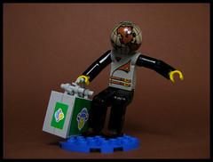 The World Weary Traveler (Karf Oohlu) Tags: lego moc figure technic technicfigure suitcase traveler wearytraveler heavyload heave