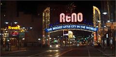Welcome To ReNO - Paint (jerrywb2010) Tags: reno nevada vitginiast citylights citystreets urban topazimpression photoshop digitalrendering topazfilters sony