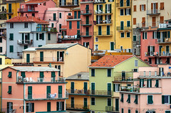 Colors of Manarola (pietkagab) Tags: manarola houses color colorful buildings telephoto roff rooftops italian architecture old town village cinqueterre liguria ligurian italy europe european pietkagab photography pentax piotrgaborek pentaxk5ii travel trip tourism sightseeing adventure