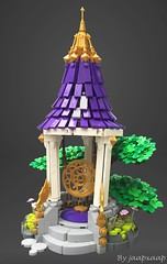 Lĭngdăo Gong (jaapxaap) Tags: lego moc by jaapxaap gong chinese asian far east art tree culture crazy shapes purple gold ancient