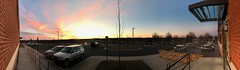 2019 039/365! Sunset (_BuBBy_) Tags: business sidewalk lot parking winter tree bricks brick clouds cloud sky wide panoramic panorama 039365 virginia va leesburg sunset 365 039