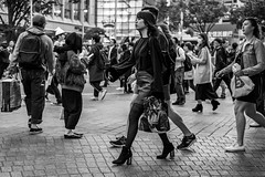 I Have Two Speeds, 100 Kilometers Per Hour And 100 Kilometers Per Hour. Oh, Maybe Just One Speed. (burnt dirt) Tags: asian japan tokyo shibuya station streetphotography documentary candid portrait fujifilm xt1 bw blackandwhite laugh smile cute sexy latina young girl woman japanese korean thai dress skirt shorts jeans jacket leather pants boots heels stilettos bra stockings tights yogapants leggings couple lovers friends longhair shorthair ponytail cellphone glasses sunglasses blonde brunette redhead tattoo model train bus busstation metro city town downtown sidewalk pretty beautiful selfie fashion pregnant sweater people person costume cosplay boobs