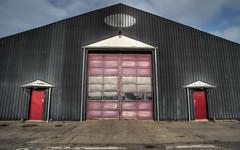 Port Purp (Svendborgphoto) Tags: architecture aisnikkor ais building enhancer 20mm ultrawide door red industrie denmark detail decay d800 nikkor nikkorais 2028ais shape geo