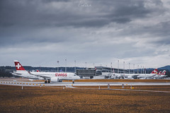 Takeoff (Cirill Schnelli) Tags: cseries a220 zrh lszh airport dust swiss swissair spotter spotting switzerland fujifilm fuji fujilove