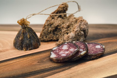 Red deer salami (Andrej Trnkoczy) Tags: salami red deer food delicious bread snack meet natural no additives