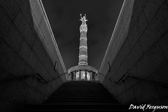 Victory Monument, Berlin (Daveoffshore) Tags: berlin germany monochrome victory monument step memorial
