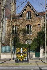 Moyoshi_0816 boulevard Auguste Blanqui Paris 13 (meuh1246) Tags: streetart paris paris13 moyoshi boulevardaugusteblanqui armoireedf animaux chat