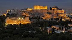 Greece - Athen - Acropolis Parthenon at Sunset (monte-leone) Tags: atnight athen akropolis acropolis greece griechenland panorama
