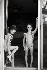 Twins (trois petits oiseaux) Tags: twins kids childhood sisters monochrome