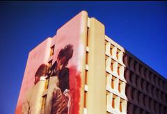 Fresque de Conor Harrington (herbdolphy) Tags: analog analogique argentique pellicule 35mm pentax p30n kodak portra paris streetart filmisnotdead filmphotography film architecture building
